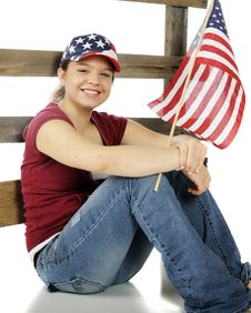 Stars-and-Stripes Teen Stock Photo