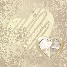 Free Heart On Light Background Royalty Free Stock Photos - 17969128