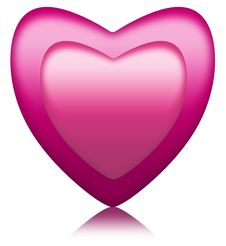 Pink Heart Inside Another Royalty Free Stock Photography