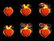 Free Heart In Fire Stock Images - 17969474