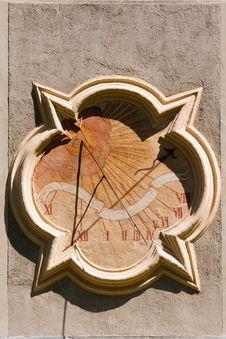 Sundial Clock Stock Photo
