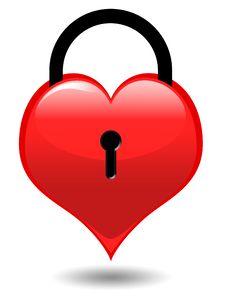 Free Locked Heart Stock Photography - 17969842