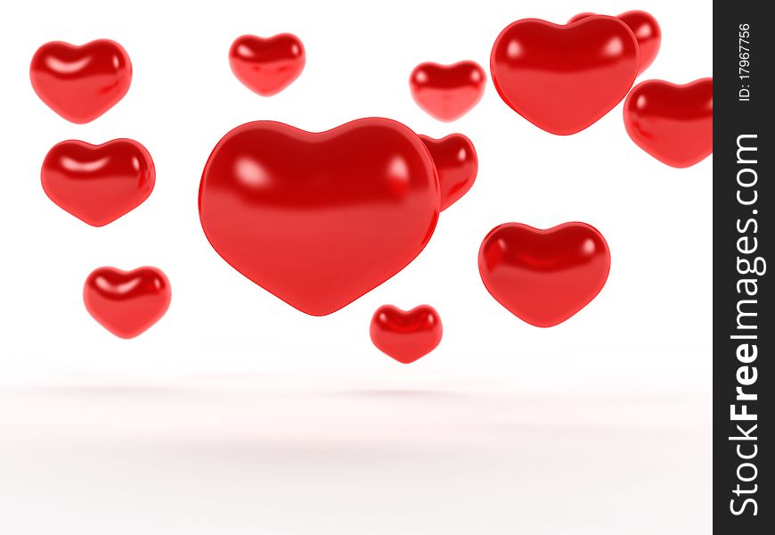 Big red hearts №1
