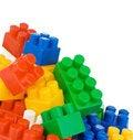 Free Colorful Plastic Bricks Isolated On White Royalty Free Stock Photo - 17970305