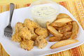 Free Fish Nugget Meal Royalty Free Stock Photo - 17974815