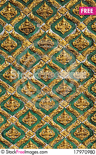 Free Thai Design Painting Background Stock Photo - 17970980