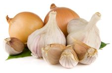 Free Garlic And Onion Isolated On White Royalty Free Stock Photo - 17970105