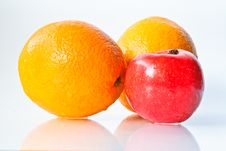 Free Apples And Orange Royalty Free Stock Image - 17970166
