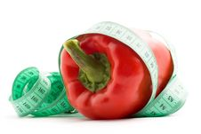 Free Bulgarian Pepper And Centimeter Royalty Free Stock Photo - 17971315