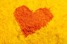 Red Heart From Spices Royalty Free Stock Image
