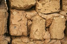 Free Mud Bricks. Royalty Free Stock Photography - 17972387