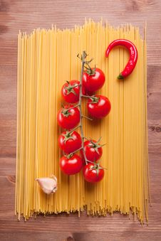 Free Pasta, Tomato, Pepper And Garlic Stock Photos - 17972423