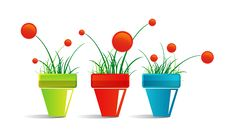 Free Icon Of Pots With Flowers Royalty Free Stock Images - 17972529