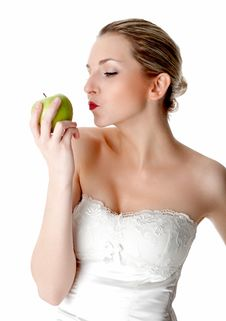 Free Flirting With An Apple Royalty Free Stock Image - 17972736