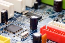 Detail Of Computer Circuit Board Royalty Free Stock Photo