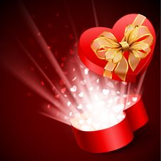 Free Heart Shape Gift Royalty Free Stock Photography - 17973777