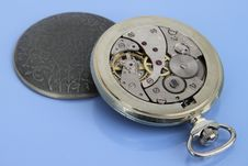 Free Inside Of Pocket Watch. Stock Images - 17974754