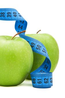 Free Green Apple With Centimeter Stock Image - 17975021