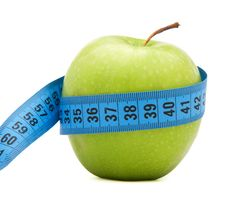 Free Green Apple With Centimeter Stock Images - 17975164