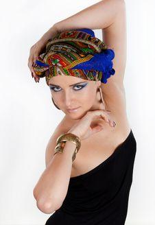 Free Attractive Woman In  Oriental Turban Stock Image - 17975181