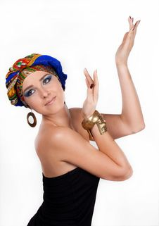 Free Attractive Woman In  Oriental Turban Stock Images - 17975254