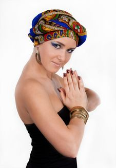 Free Attractive Woman In  Oriental Turban Royalty Free Stock Photo - 17975275