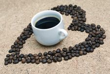 Coffee With Love Stock Photo