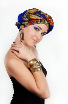 Free Attractive Woman In  Oriental Turban Royalty Free Stock Image - 17975376