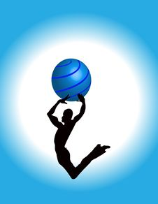 Free Jumping Guy Dancing Bouncing High Silhouette Stock Images - 17975524