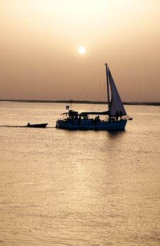Free Boat In Ria Formosa, Natural Conservation Stock Photography - 17975892