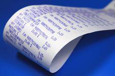 Free Desktop Calculator Paper Roll Stock Photography - 17976262