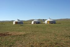 Free Yurts In Mongolia Royalty Free Stock Image - 17976506