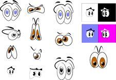Free Cartoon Eyes Stock Photography - 17976552