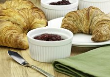 Free Croissants And Jam Stock Photography - 17977242