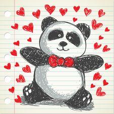 Free Panda Doodle Royalty Free Stock Image - 17977246