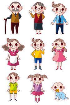 Free Cartoon Family Icon Stock Photography - 17978172