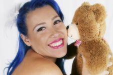 Free Teddy Bear Kisses Stock Photo - 17978950