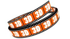 Free 3d Film Rolled Up Royalty Free Stock Photography - 17979077