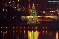 Free Pittsburgh Point State Park Christmas Tree Royalty Free Stock Photography - 17979227