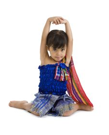 Free Little Girl With Arms Up Und Tongue Out Stock Photos - 17979393