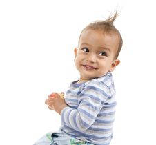 Free Cute Boy A Red Apple Stock Photography - 17979412