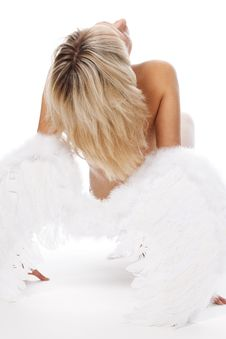 Free Blonde Posing With Angel Wings Stock Photos - 17979933
