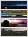 Free Four Different Fantasy Landscapes For Banner, Royalty Free Stock Image - 17984726