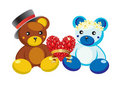 Free Teddy Bears And Hearts. Royalty Free Stock Photo - 17984895