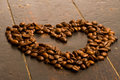 Free Coffee Beans Heart Royalty Free Stock Photos - 17985298