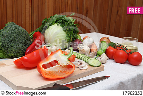 Free Salad Ingredients Stock Photos - 17982353