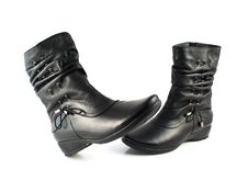 Free Black Women S Boots Stock Images - 17980314