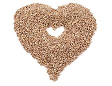 Heart Of The Wheat Grain Stock Photo