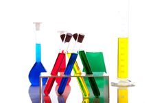 Free Labolatory Glassware With Colorful Fluids Isolated Royalty Free Stock Photos - 17980718