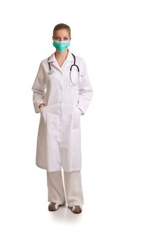 Free Medical Doctor Woman Isolated On White Royalty Free Stock Photography - 17980947